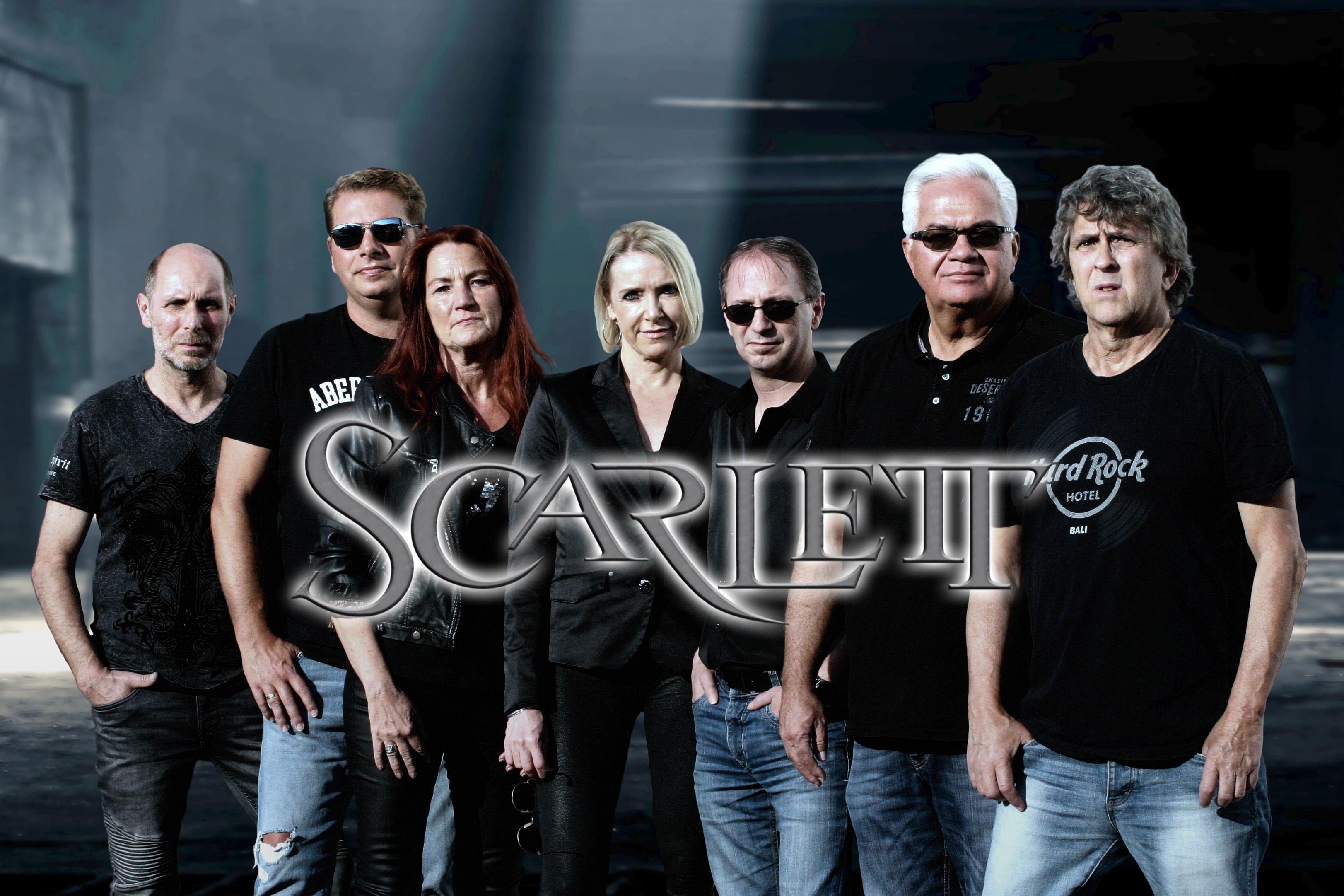 Scarlett Bandfoto mit Logo